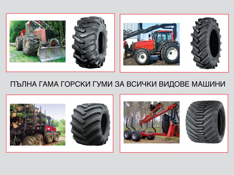 Distribution of forestry tires by Alliance