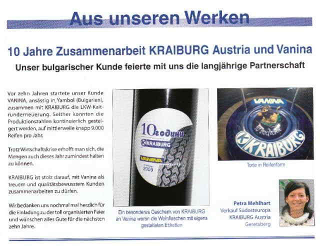 10 Years Vanina Export - Kraiburg